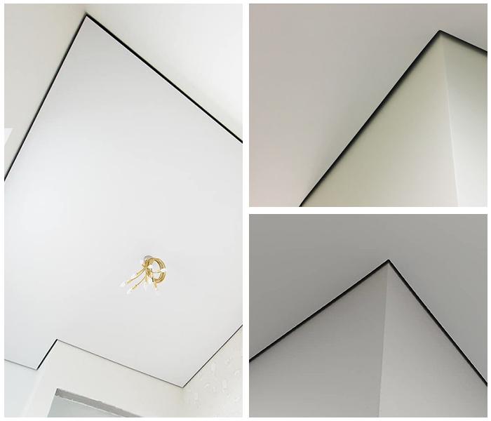 натяжные потолки теневые